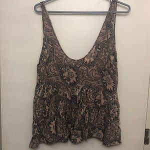 Urban Outfitters patterned babydoll tank